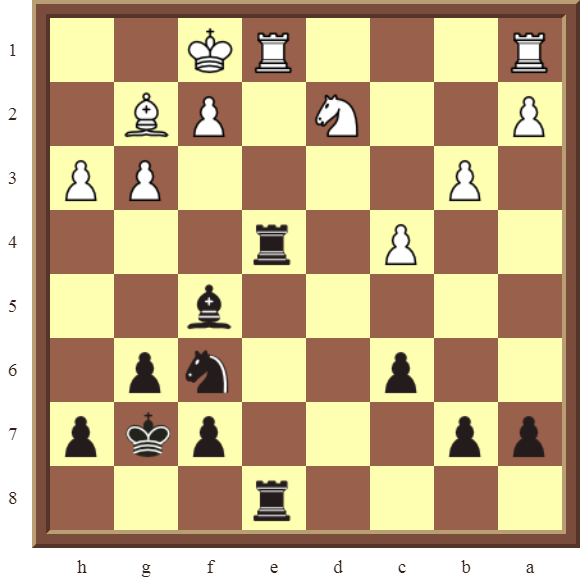 CHAPTER 11 REMOVING THE GUARD – Diagram 317 – Black wins the white Rook in 3 moves!
