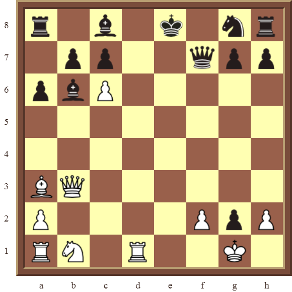 CHAPTER 11 REMOVING THE GUARD – Diagram 318 – White wins the black Queen for a Rook in 2 moves!