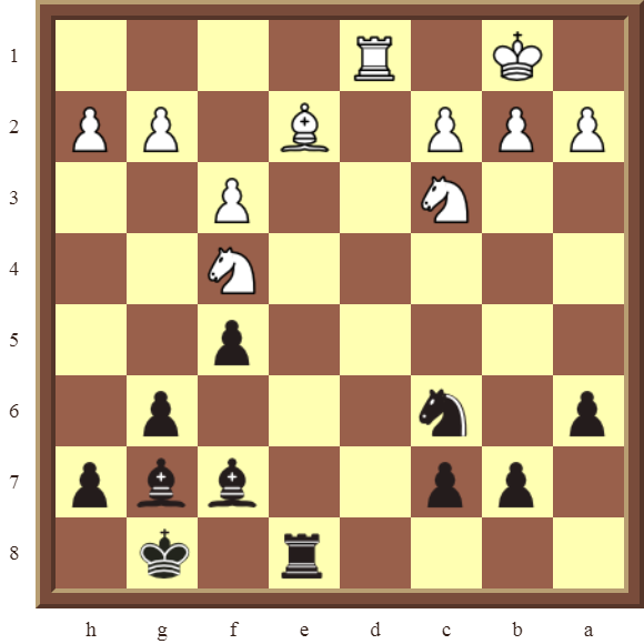CHAPTER 11 REMOVING THE GUARD – Diagram 327 – Black checkmates or wins the white Bishop or the Knight on f4 in 3 moves!