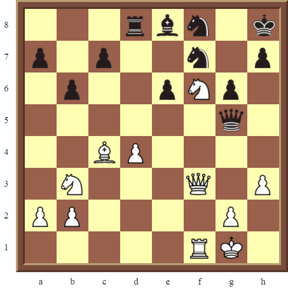 CHAPTER 11 REMOVING THE GUARD – Diagram 328 – White wins the black Knight on f7 in 2 moves!