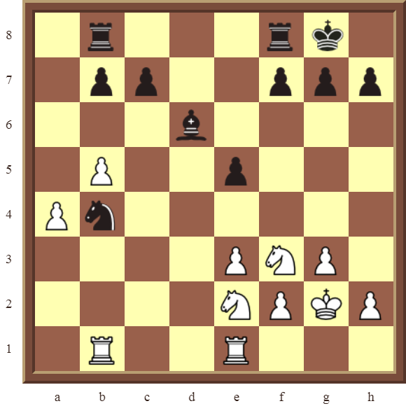 CHAPTER 11 REMOVING THE GUARD – Diagram 329 – White wins the black e-pawn in 2 moves!