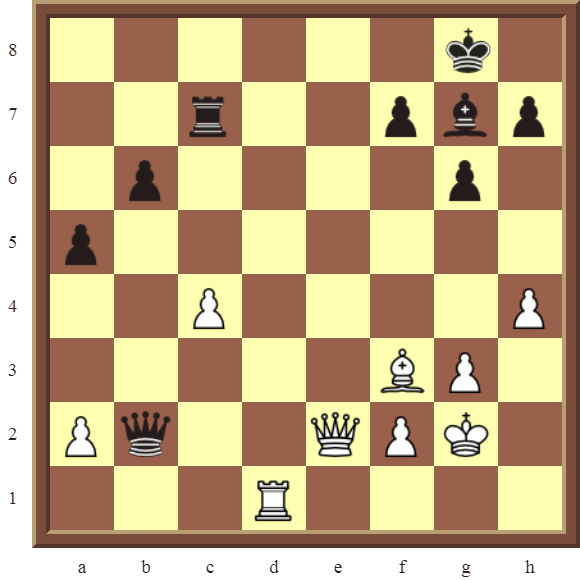 CHAPTER 11 REMOVING THE GUARD – Diagram 330 – White wins the black Queen in 2 moves!