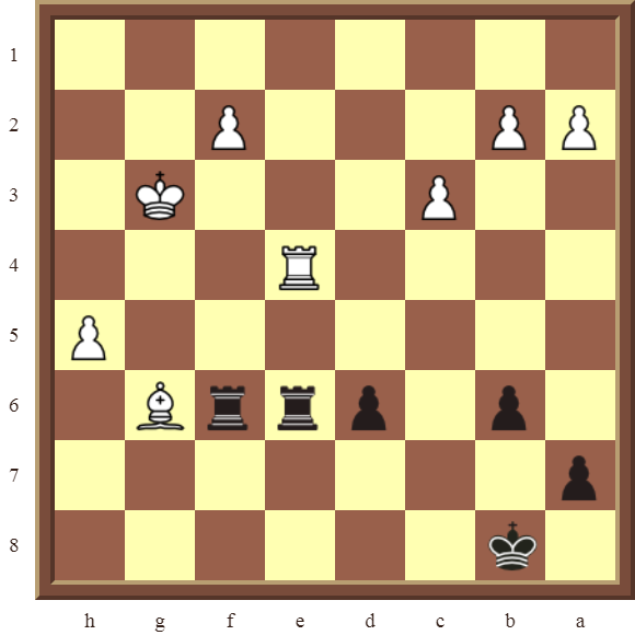 CHAPTER 11 REMOVING THE GUARD – Diagram 331 – Black wins the white Bishop in 2 moves!