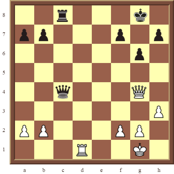 CHAPTER 11 REMOVING THE GUARD – Diagram 334 – White wins the black Rook, or the Queen for a Rook, in 2 moves!