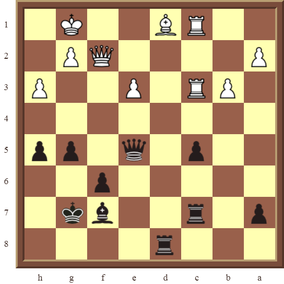 CHAPTER 11 REMOVING THE GUARD – Diagram 337 – Black wins the white Bishop in 2 moves!