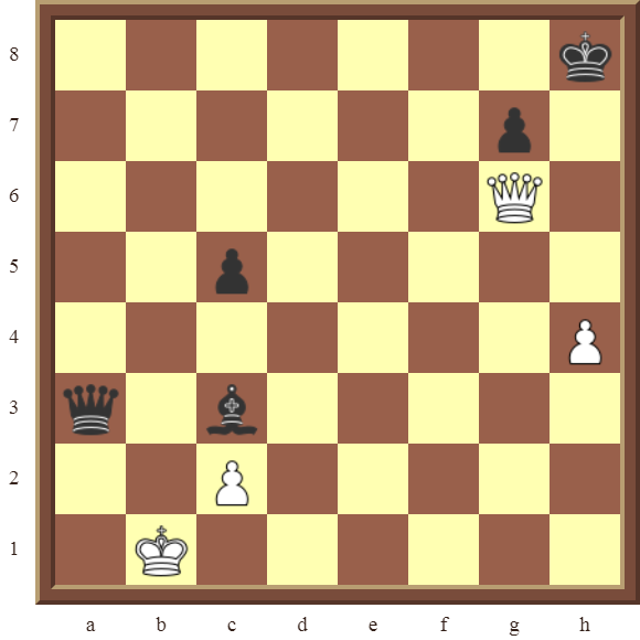 CHAPTER 12 PERPETUAL CHECK – Diagram 344  – White avoids checkmate, and draws this losing position by using a Perpetual Check!