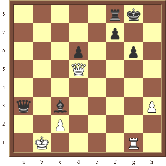 CHAPTER 12 PERPETUAL CHECK – Diagram 345  – White avoids checkmate, and draws this losing position in 4 moves by using a Perpetual Check!