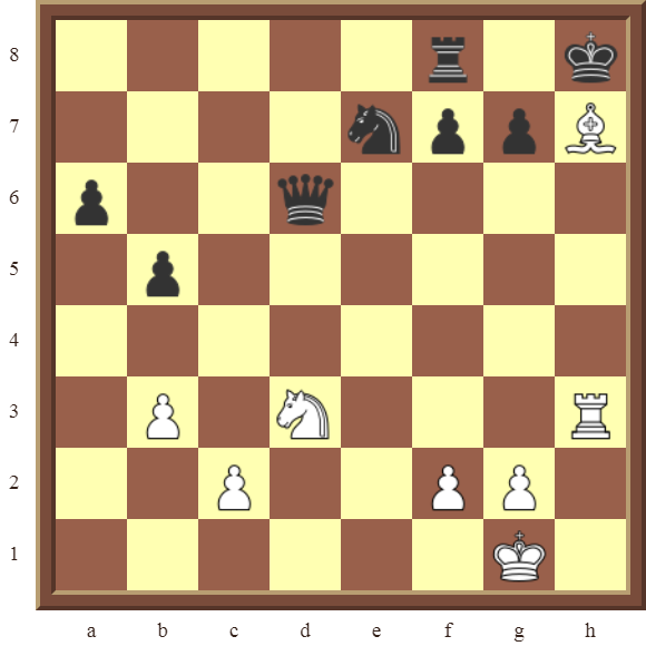 CHAPTER 12 PERPETUAL CHECK – Diagram 353 – White draws this otherwise losing position by using a Perpetual Check!