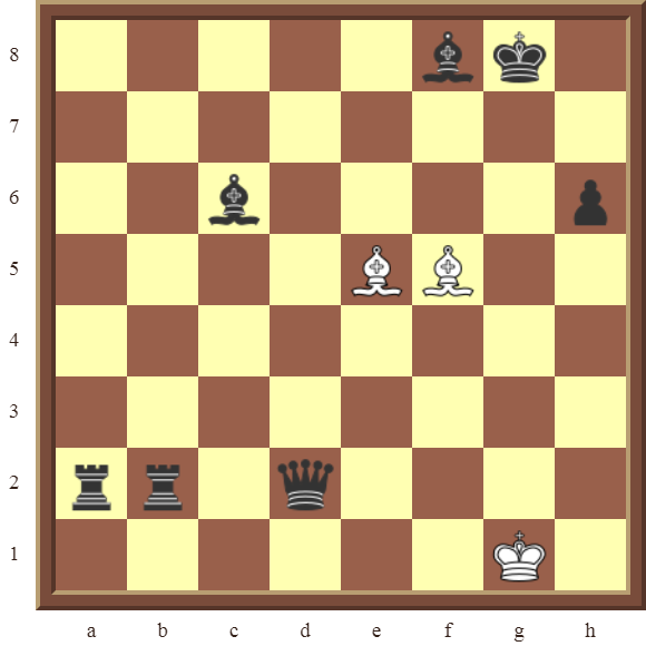 CHAPTER 12 PERPETUAL CHECK – Diagram 354 – White avoids checkmate and draws this otherwise losing position by using a Perpetual Check!