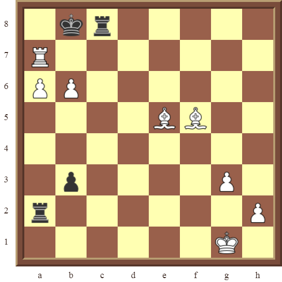 CHAPTER 12 PERPETUAL CHECK – Diagram 355 – White avoids checkmate and draws this otherwise losing position by using a Perpetual Check!