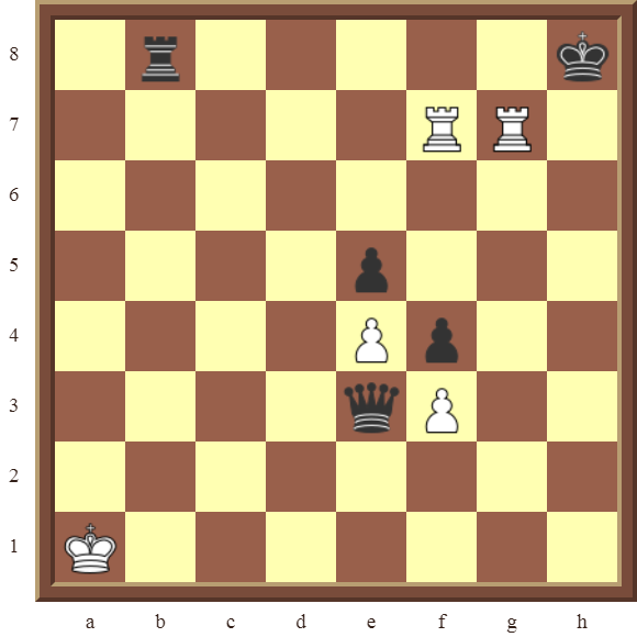 CHAPTER 12 PERPETUAL CHECK – Diagram 357 – White avoids checkmate and draws this otherwise losing position by using a Perpetual Check!