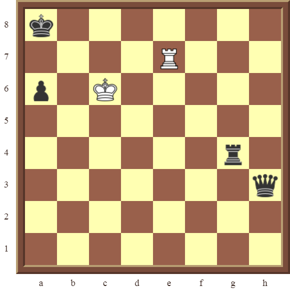 CHAPTER 12 PERPETUAL CHECK – Diagram 358 – White draws this otherwise losing position by using a Perpetual Check!