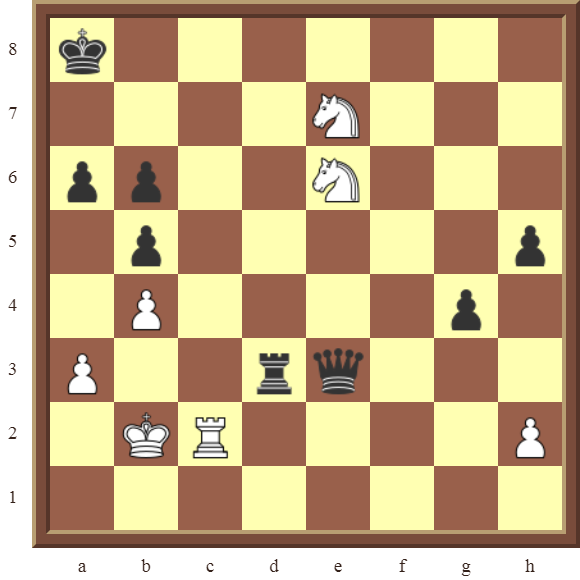 CHAPTER 12 PERPETUAL CHECK – Diagram 359 – White draws this otherwise losing position by using a Perpetual Check!
