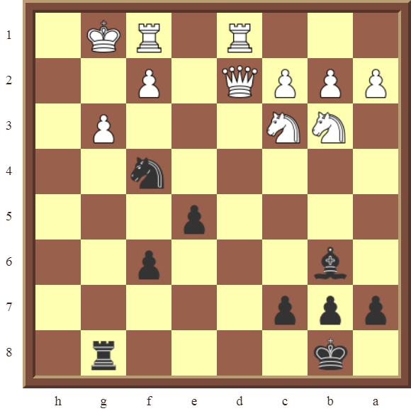 CHAPTER 12 PERPETUAL CHECK – Diagram 361 – Black avoids checkmate and draws this otherwise losing position by using a Perpetual Check!
