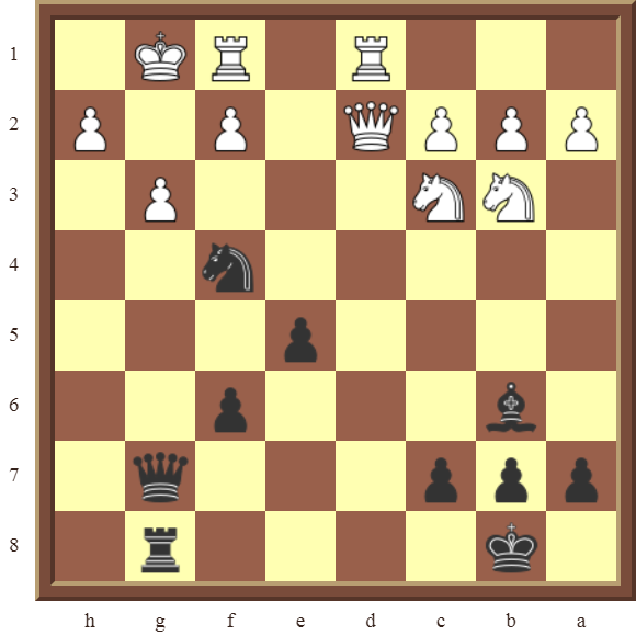 CHAPTER 12 PERPETUAL CHECK – Diagram 362 – Black avoids checkmate and draws this otherwise losing position by using a Perpetual Check!