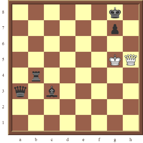 CHAPTER 12 PERPETUAL CHECK – Diagram 365 – White draws this otherwise losing position by using a Perpetual Check!