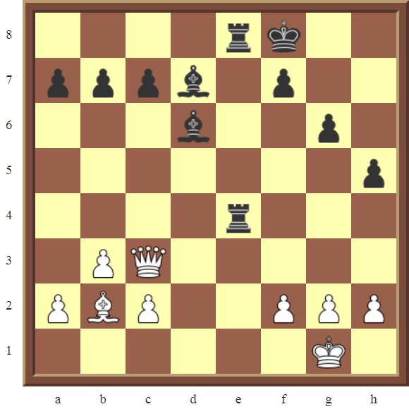 CHAPTER 12 PERPETUAL CHECK – Diagram 368 – White avoids checkmate and draws this otherwise losing position by using a Perpetual Check!