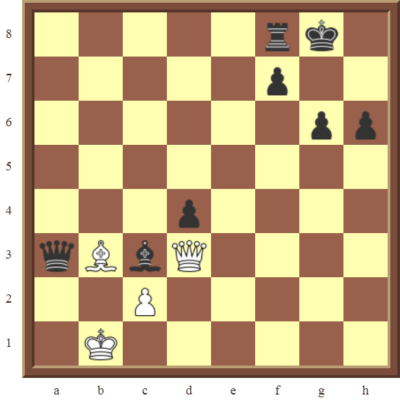 CHAPTER 12 PERPETUAL CHECK – Diagram 370 – White avoids checkmate and draws this otherwise losing position by using a Perpetual Check!