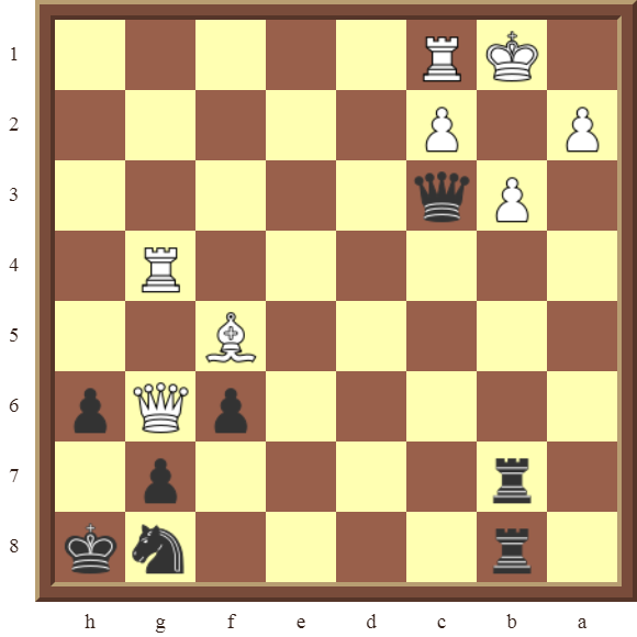 CHAPTER 12 PERPETUAL CHECK – Diagram 372 – Black avoids checkmate and draws this otherwise losing position by using a Perpetual Check!