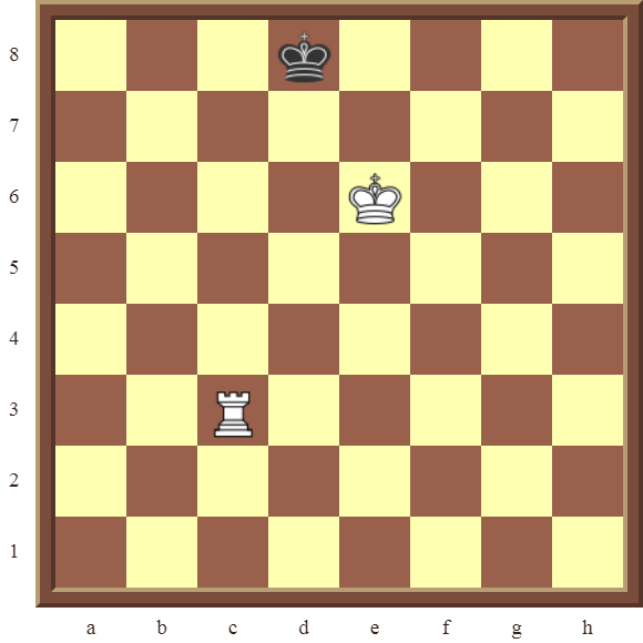 CHAPTER 13 ZUGZWANG/STALEMATE – INTRODUCTION: Diagram 373 – Name the square where the white Rook checkmates the black King in 2 moves!