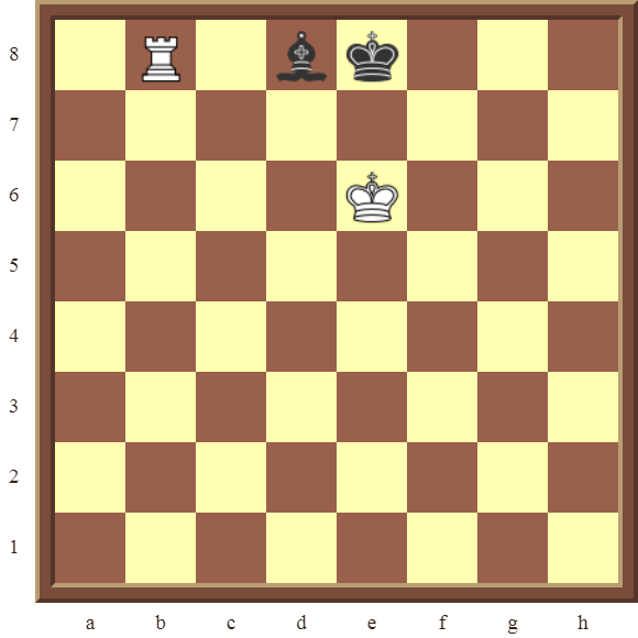 CHAPTER 13 ZUGZWANG/STALEMATE: Diagram 374 – White wins the black Bishop in 2 moves!