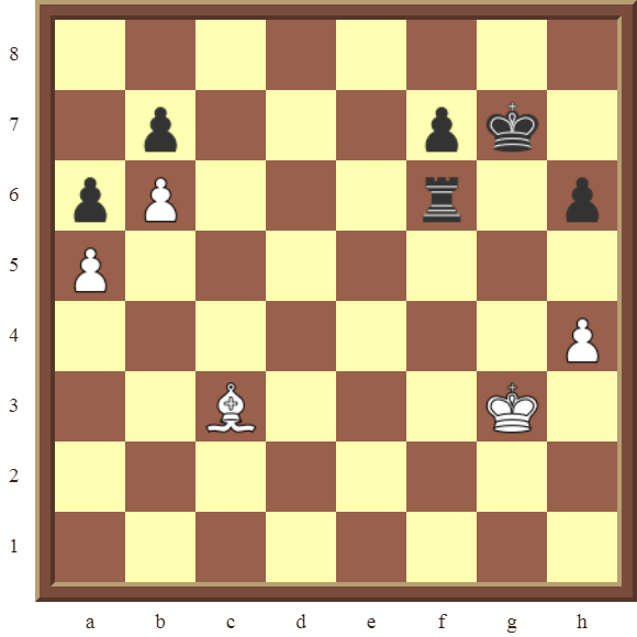 CHAPTER 13 ZUGZWANG/STALEMATE: Diagram 379 – White wins the pinned black Rook in 2 moves!