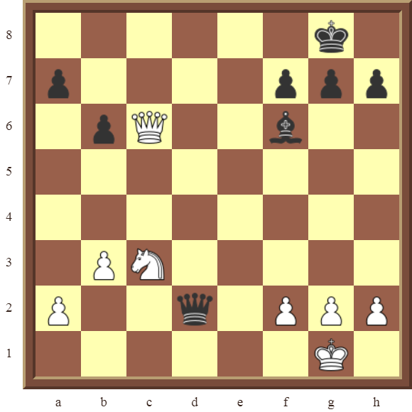 BACK RANK COMBOS Diagram 38 – White checkmates in 1 move.