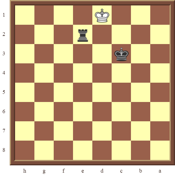 CHAPTER 13 ZUGZWANG/STALEMATE: Diagram 382 – Black checkmates in 2 moves!