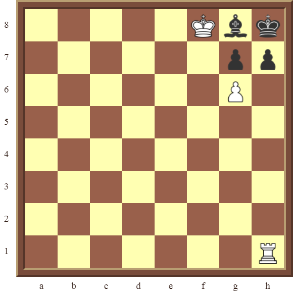 CHAPTER 13 ZUGZWANG/STALEMATE: Diagram 386 – White checkmates in 2 moves!
