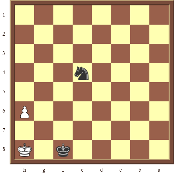 CHAPTER 13 ZUGZWANG/STALEMATE: Diagram 388 – Black checkmates in 2 moves!