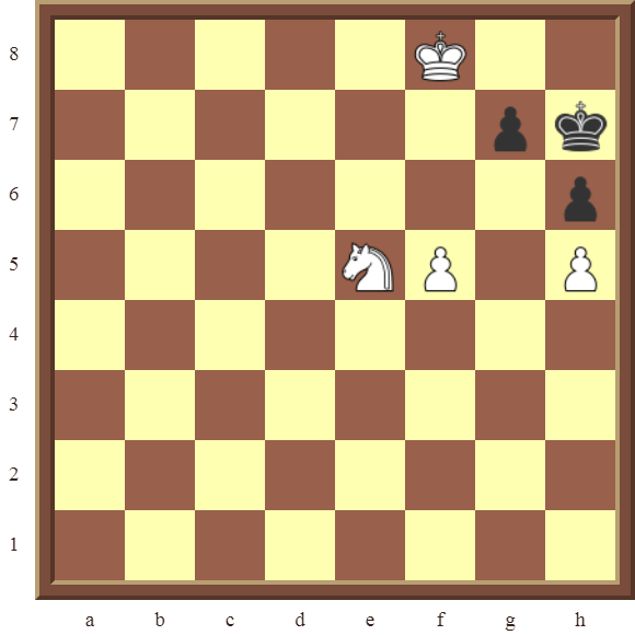 CHAPTER 13 ZUGZWANG/STALEMATE: Diagram 389 – White checkmates in 2 moves!