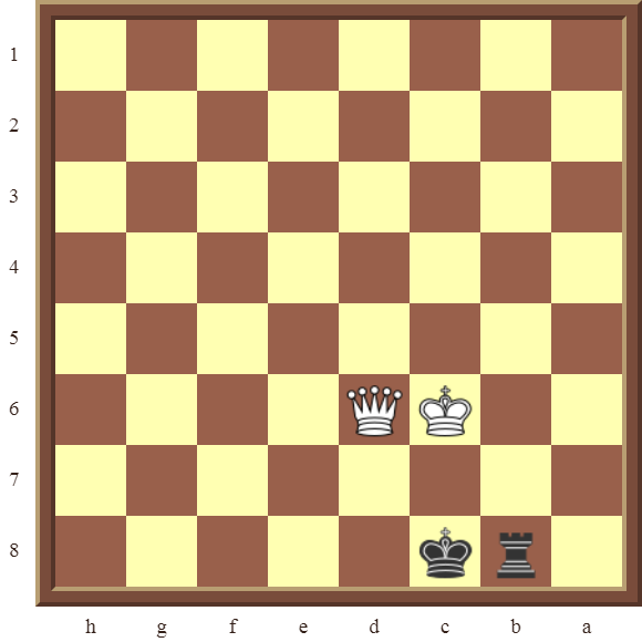 CHAPTER 13 ZUGZWANG/STALEMATE: Diagram 393 –Black avoids checkmate and draws this losing position in 1 or 2 moves!