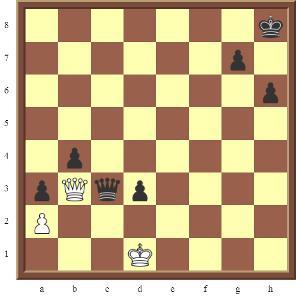 White draws this losing position in 1 move!