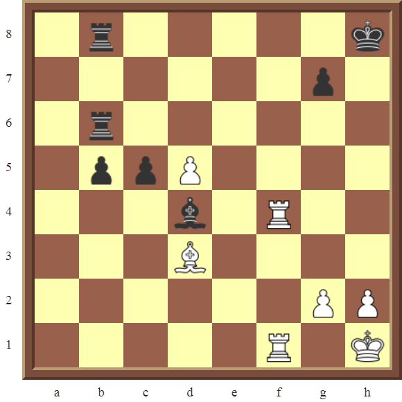 Back Rank Combinations: Diagram 44  – White checkmates in 2 moves.