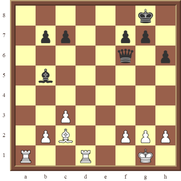 BACK RANK COMBOS Diagram 46 – White checkmates in 3 moves.