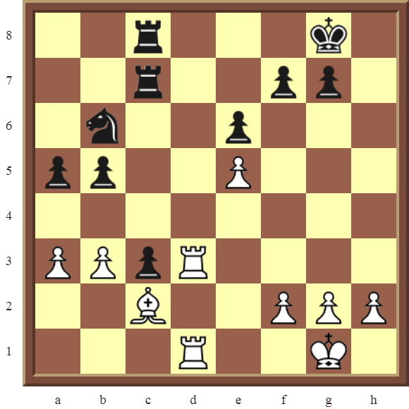 Back Rank Combinations: Diagram 47  – White checkmates in 2 moves.
