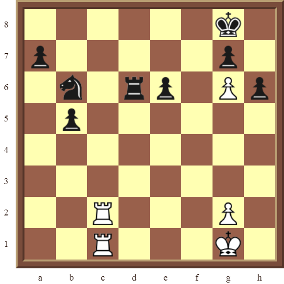 Back Rank Combinations: Diagram 48  – White checkmates in 3 moves.