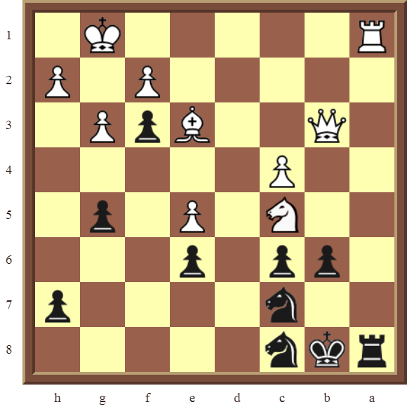 BACK RANK COMBOS Diagram 49 – Black checkmates in 3 moves.