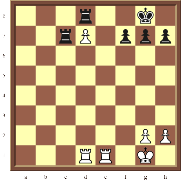 Back Rank Combinations: Diagram 50  – White checkmates in 2 moves.