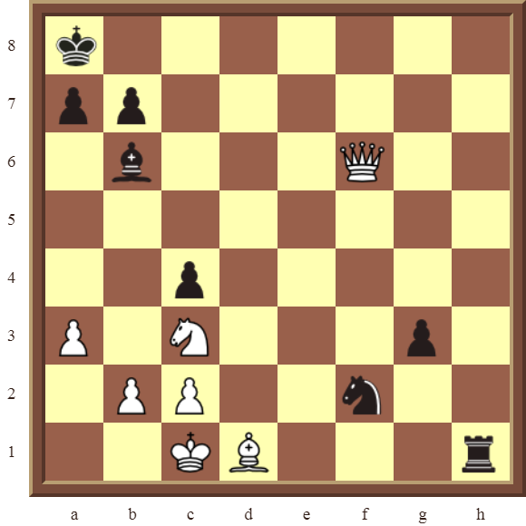 Back Rank Combinations: Diagram 52  – White checkmates in 2 moves.