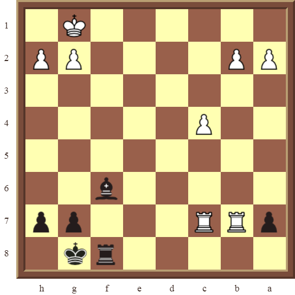 Black checkmate in 2 moves