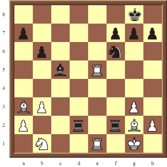 BACK RANK COMBOS Diagram 56 – White checkmates in 2 or 3 moves.