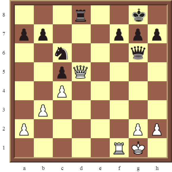 Back Rank Combinations: Diagram 61  – White checkmates in 2 moves.