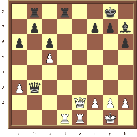 BACK RANK COMBOS Diagram 62 – White checkmates in 3 moves.