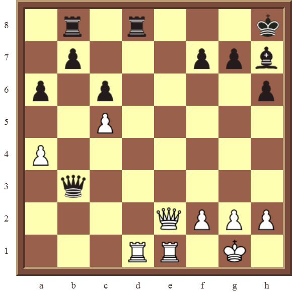 Back Rank Combinations: Diagram 62  – White checkmates in 3 moves.