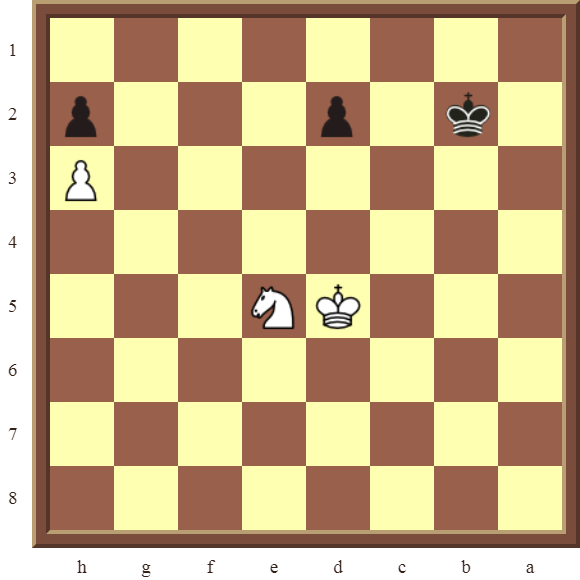 KNIGHT FORKS Diagram 69 – White wins a pawn in 2 moves.