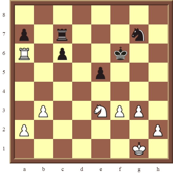 KNIGHT FORKS: Diagram 74  – White wins the black Queen for a Knight in 2 moves.