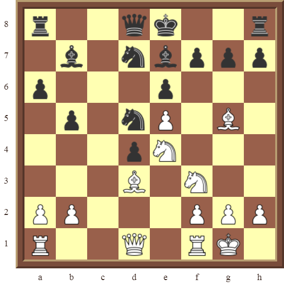 KNIGHT FORKS: Diagram 76  – White wins the black Bishop  on b7–or the black Queen for a Knight & Bishop in 2 moves.