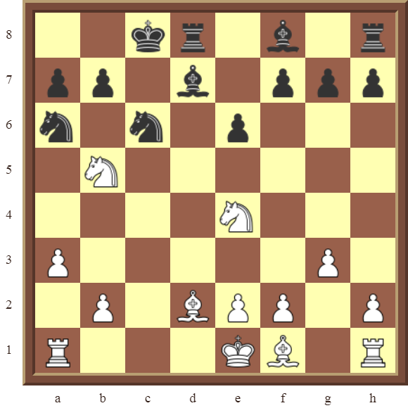 KNIGHT FORKS: Diagram 81  – White wins a pawn and the exchange (a Rook for a Knight) in 4 moves.