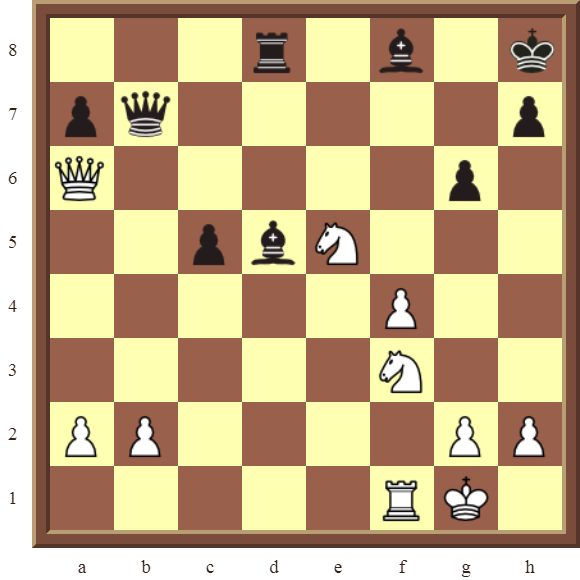 KNIGHT FORKS: Diagram 82  – White wins a Rook in 3 moves.